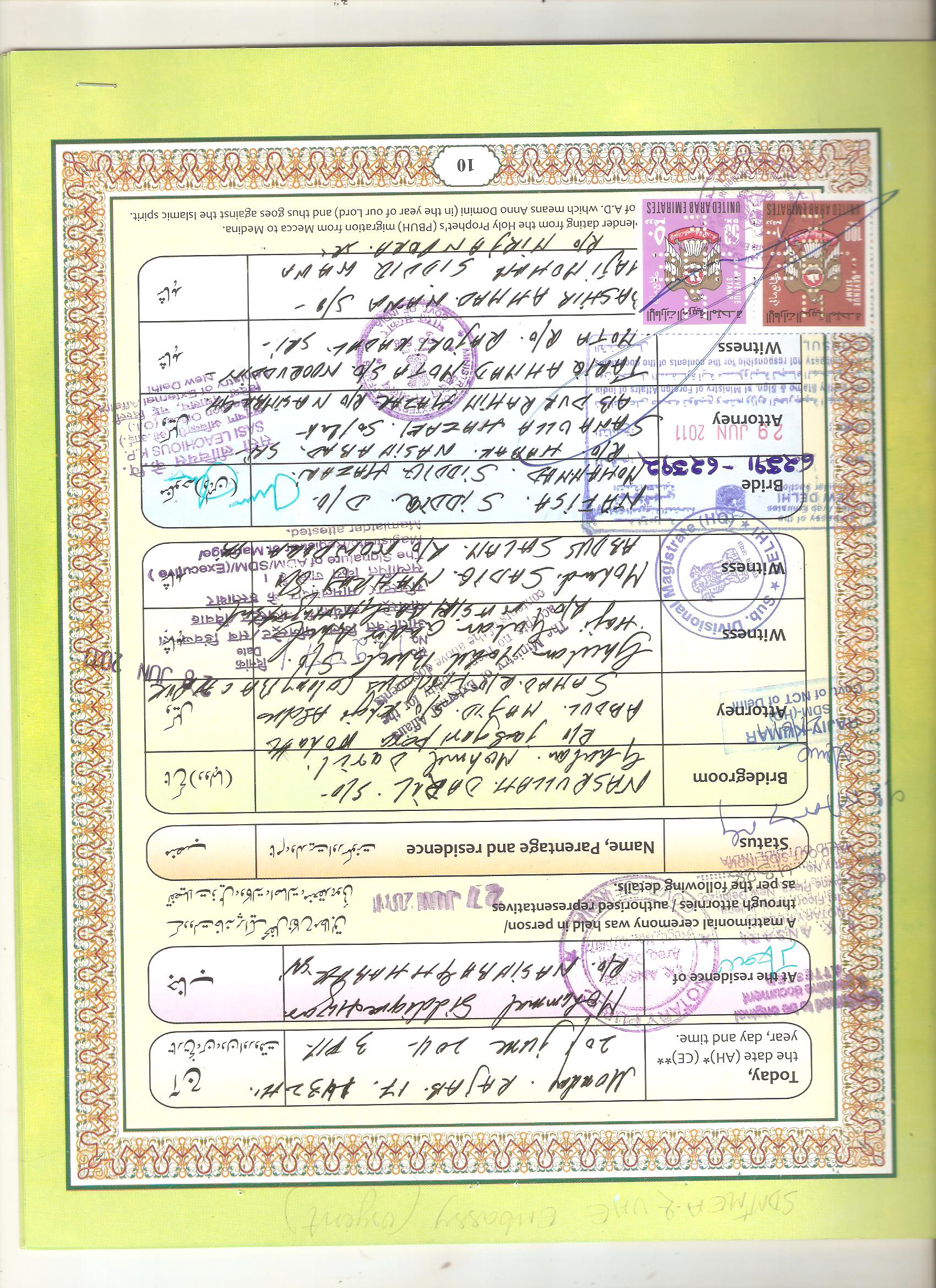 Certificate attestation for kuwait embassy marriage birth certificate sample aiddatafo Gallery