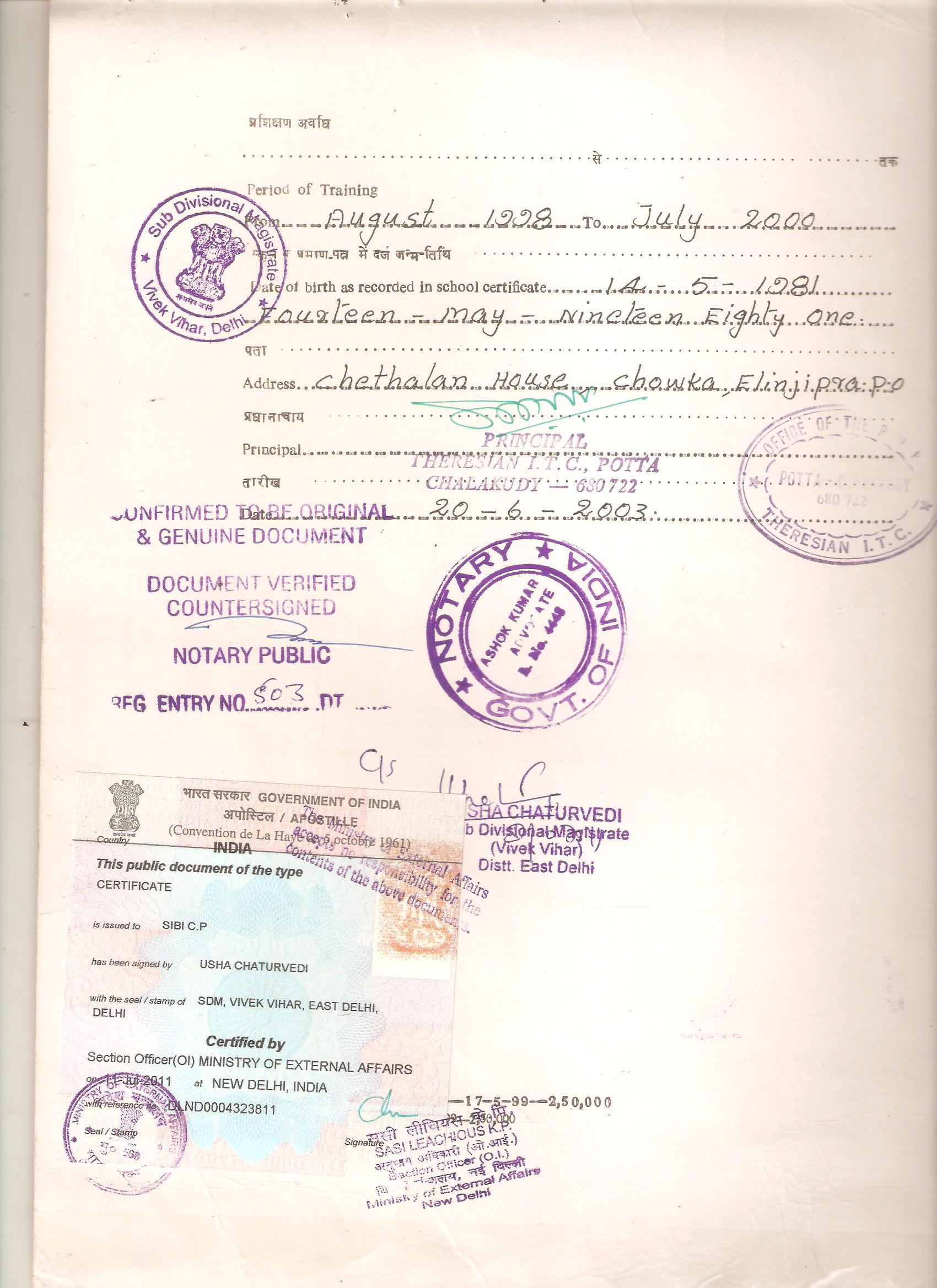 Certificate Apostille Service in India – Samples of Divorce Papers